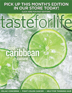 June 2016 Taste for Life Magazine Cover